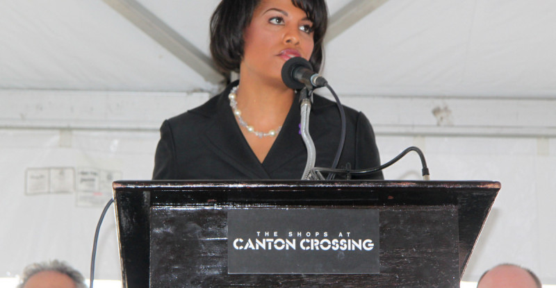 Scenes from the Canton Crossing ribbon-cutting