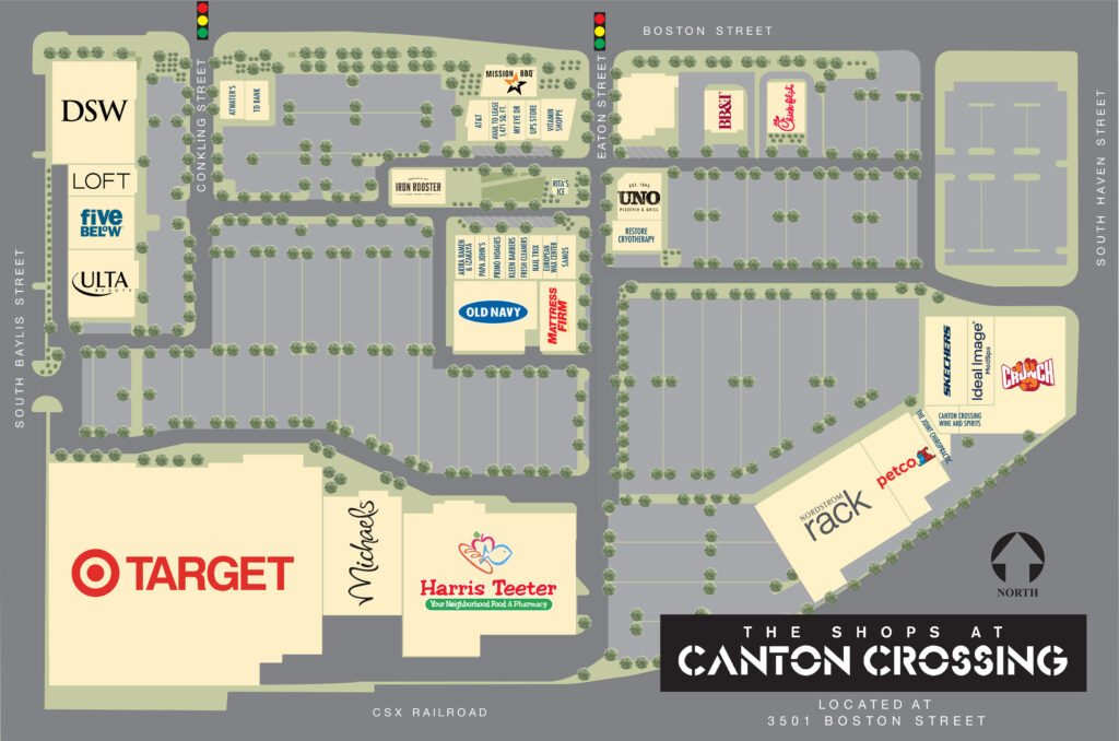 Canton Crossing Baltimore Site Map with Target, DSW, and more